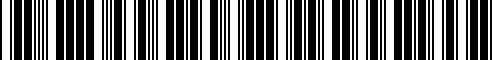 Barcode for G3805-1LA0A